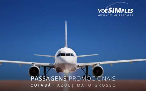 Passagem aérea promocional Azul de Vilhena para Cuiabá