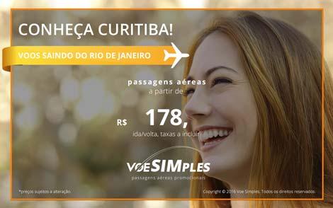 Passagens aéreas baratas para Curitiba saindo do Rio de Janeiro