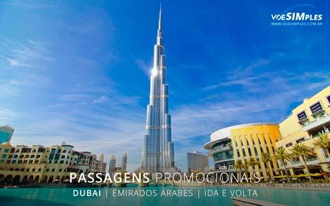 Passagem aérea promocional para Dubai