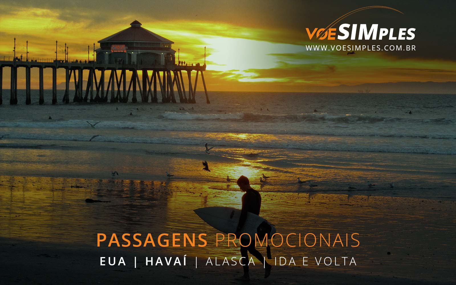 Promoção de passagens aéreas para o Havaí e Alasca nos Estados Unidos