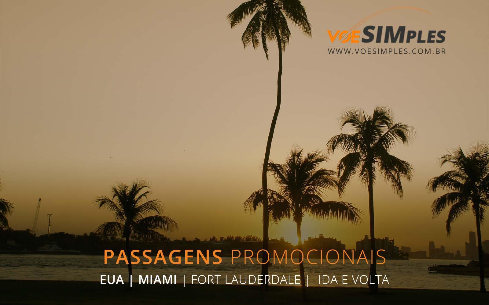 Voos baratos para Miami e Fort Lauderdale nos Estados Unidos