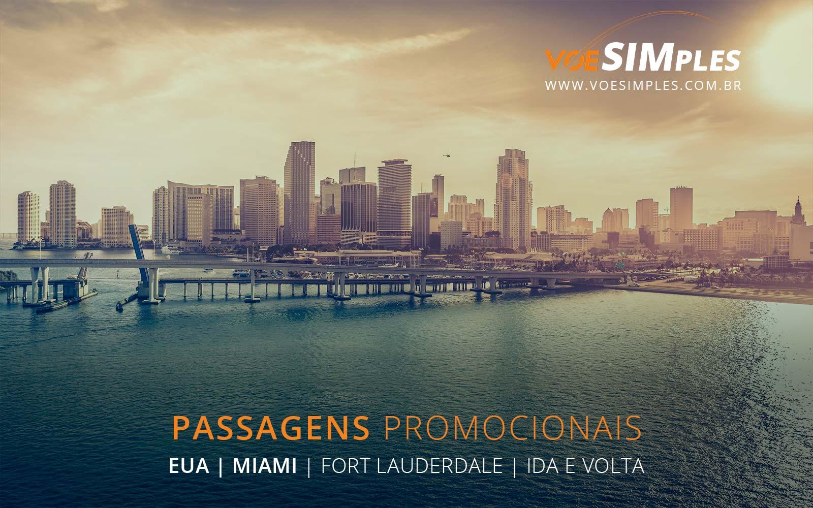 Promoção de passagens aéreas para Miami e Fort Lauderdale nos Estados Unidos