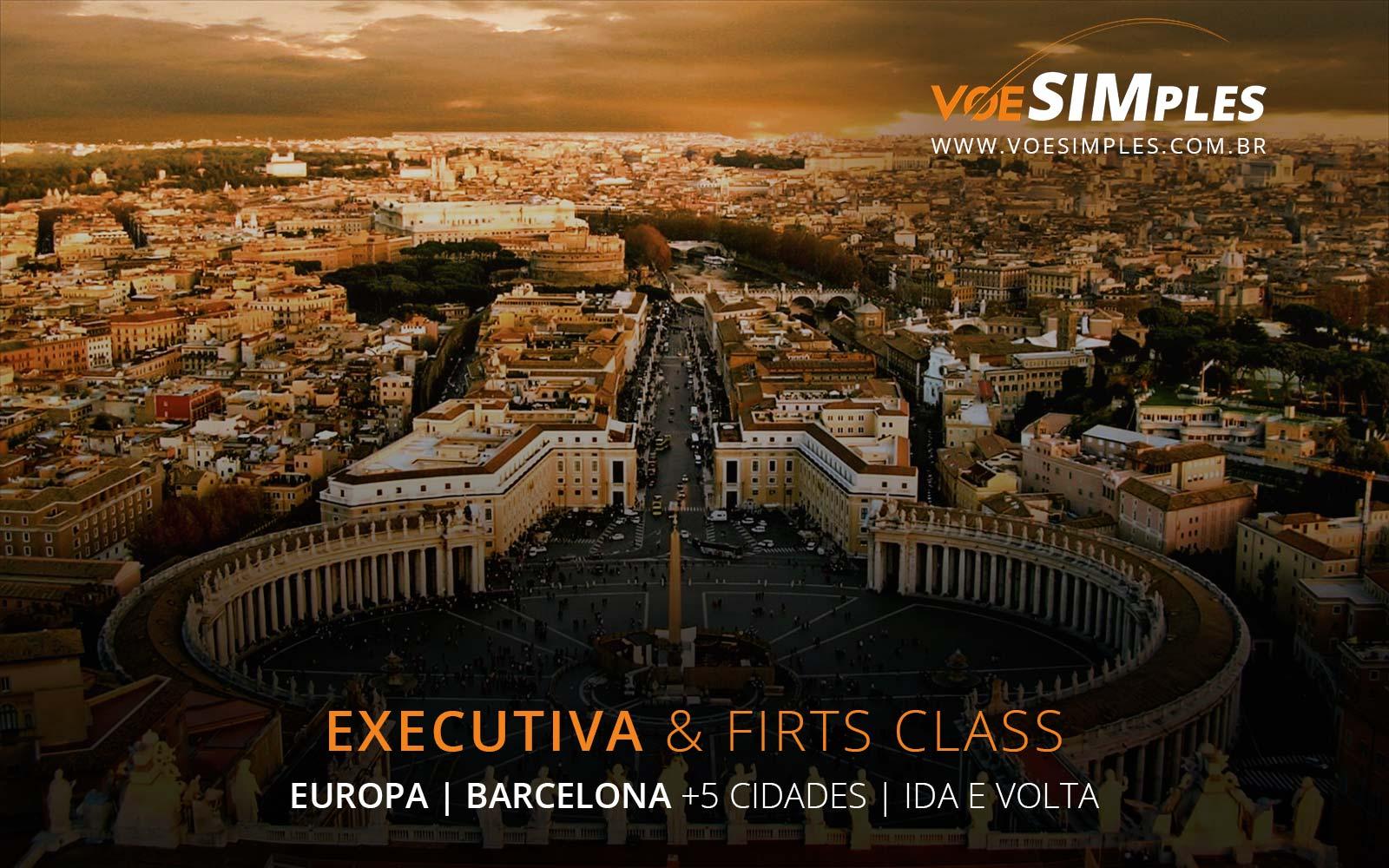 Passagens aéreas para a Europa em Premium Business