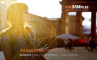Passagens aéreas baratas para a Europa