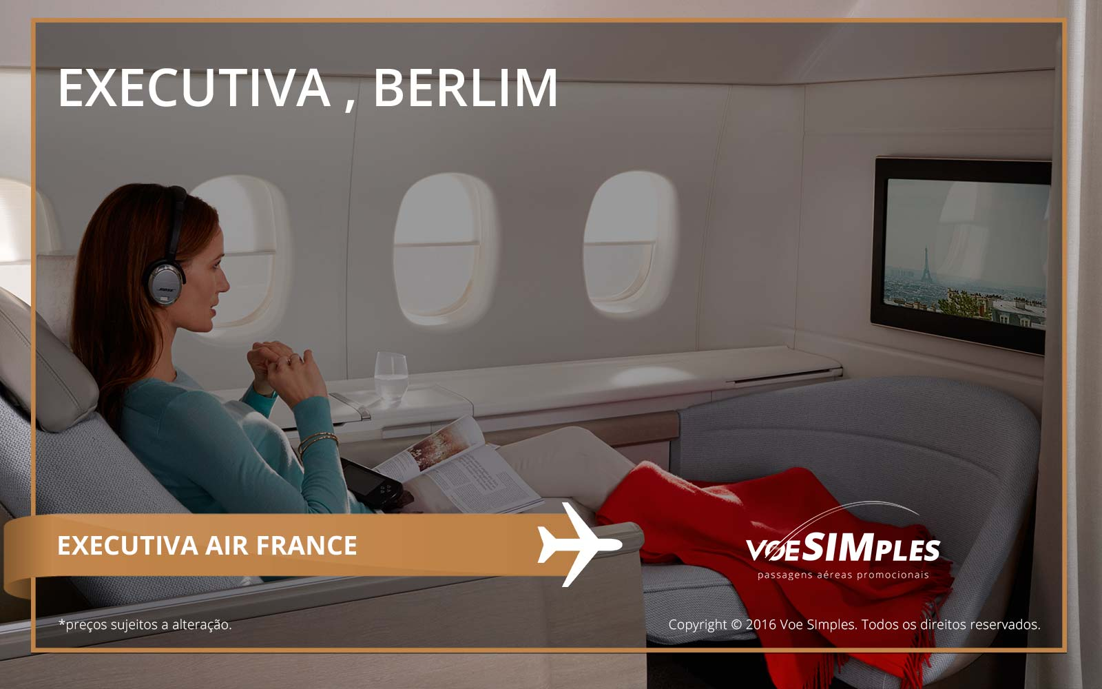Passagem aérea Classe Executiva Air France para Berlim