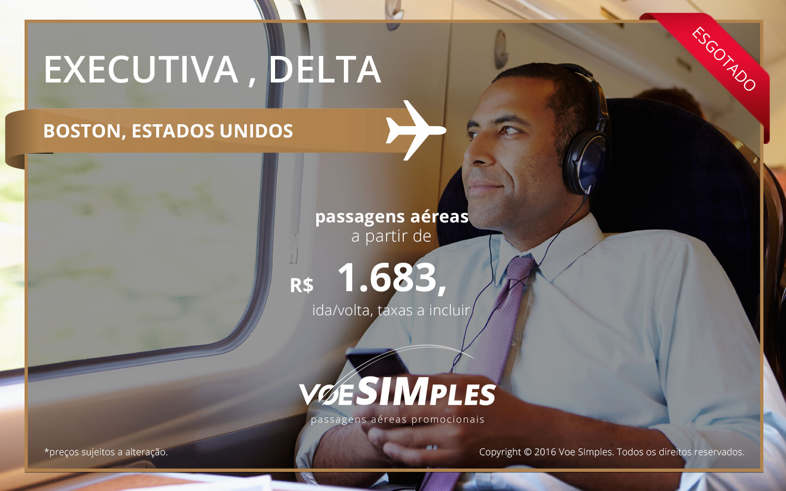 Passagem aérea Classe Executiva Delta Airlines para Boston