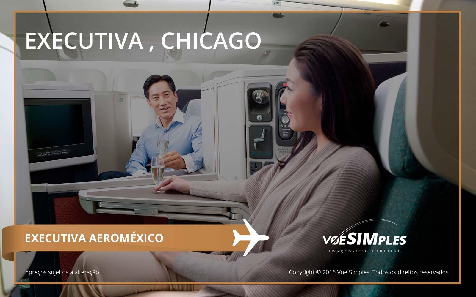 Passagem aérea Classe Executiva Aeroméxico para Chicago