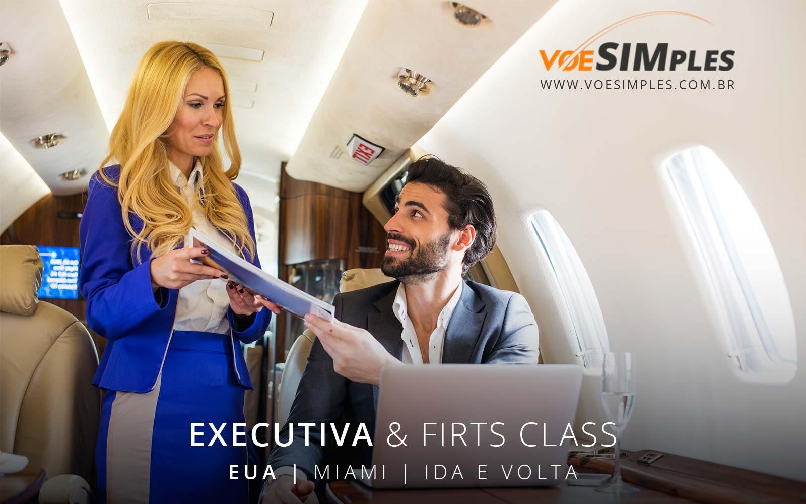 Passagem aérea classe executiva Avianca e American Airlines para os Estados Unidos