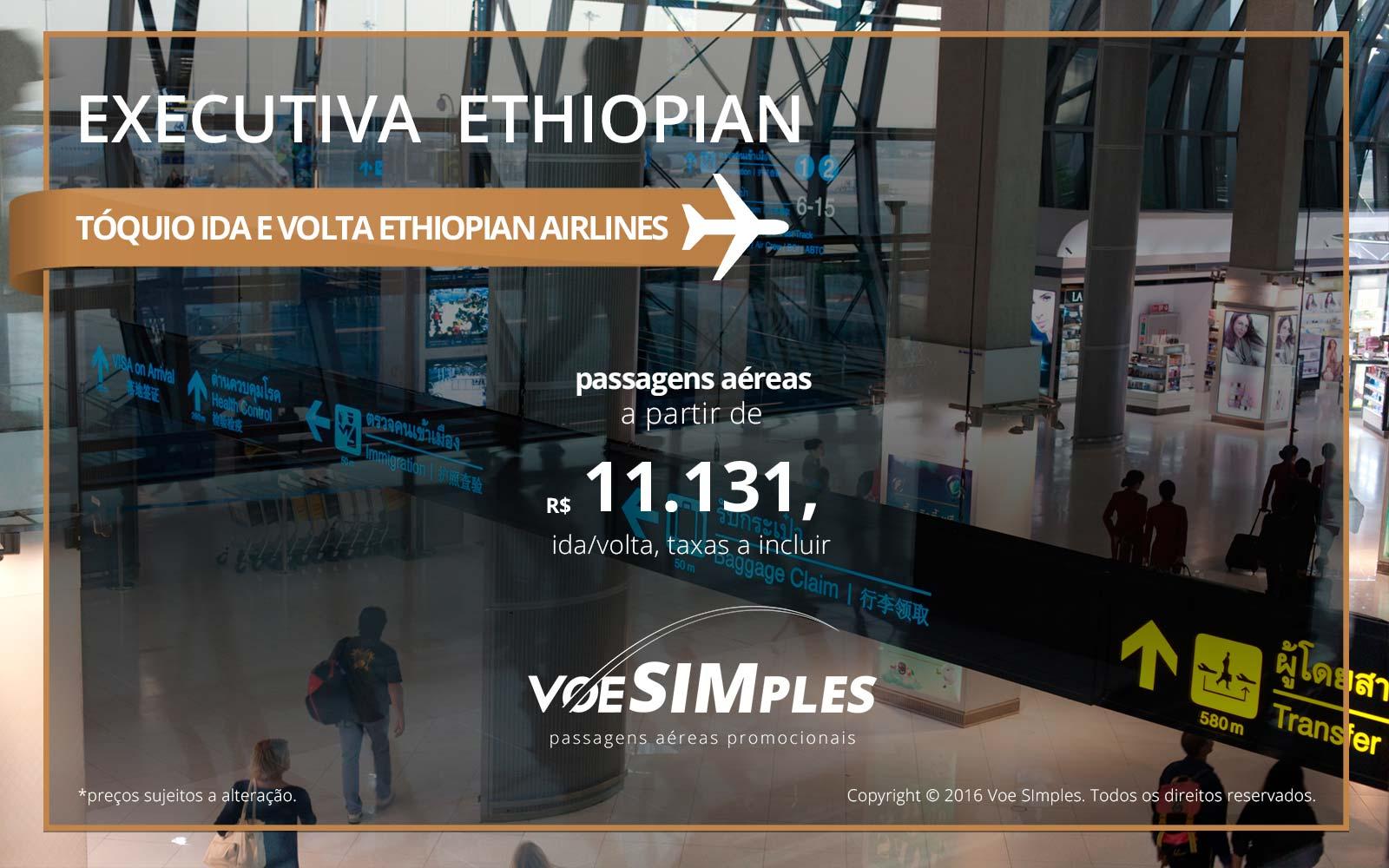 Passagens aéreas Classe Executiva Ethiopian Airlines para Tóquio