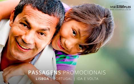 passagem aérea promocional para Lisboa