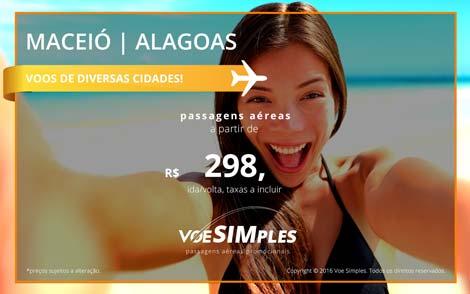Passagem aérea promocional para Maceió
