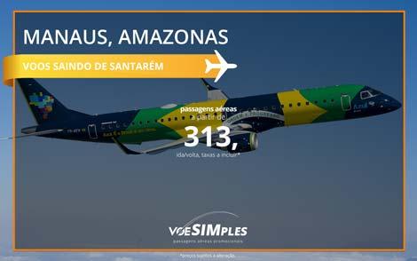 Passagem aérea promocional Azul saindo de Santarém