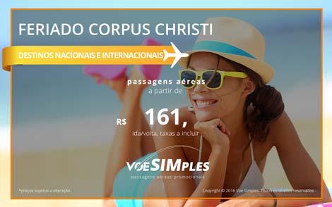 Onde viajar no feriado de Corpus Christi 2016