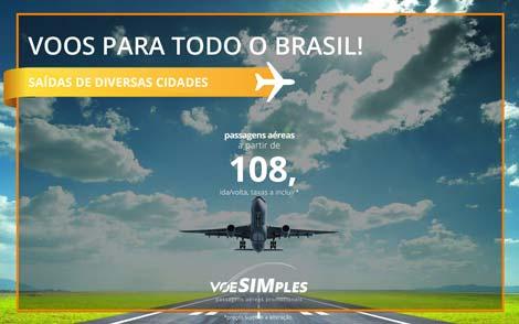 Passagem aérea promocional para o Brasil