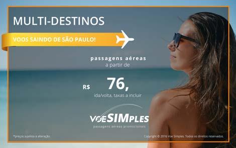 Passagens aéreas promocionais para todo o Brasil