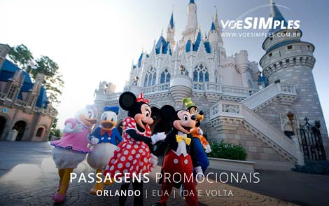 Passagens aéreas promocionais para Orlando