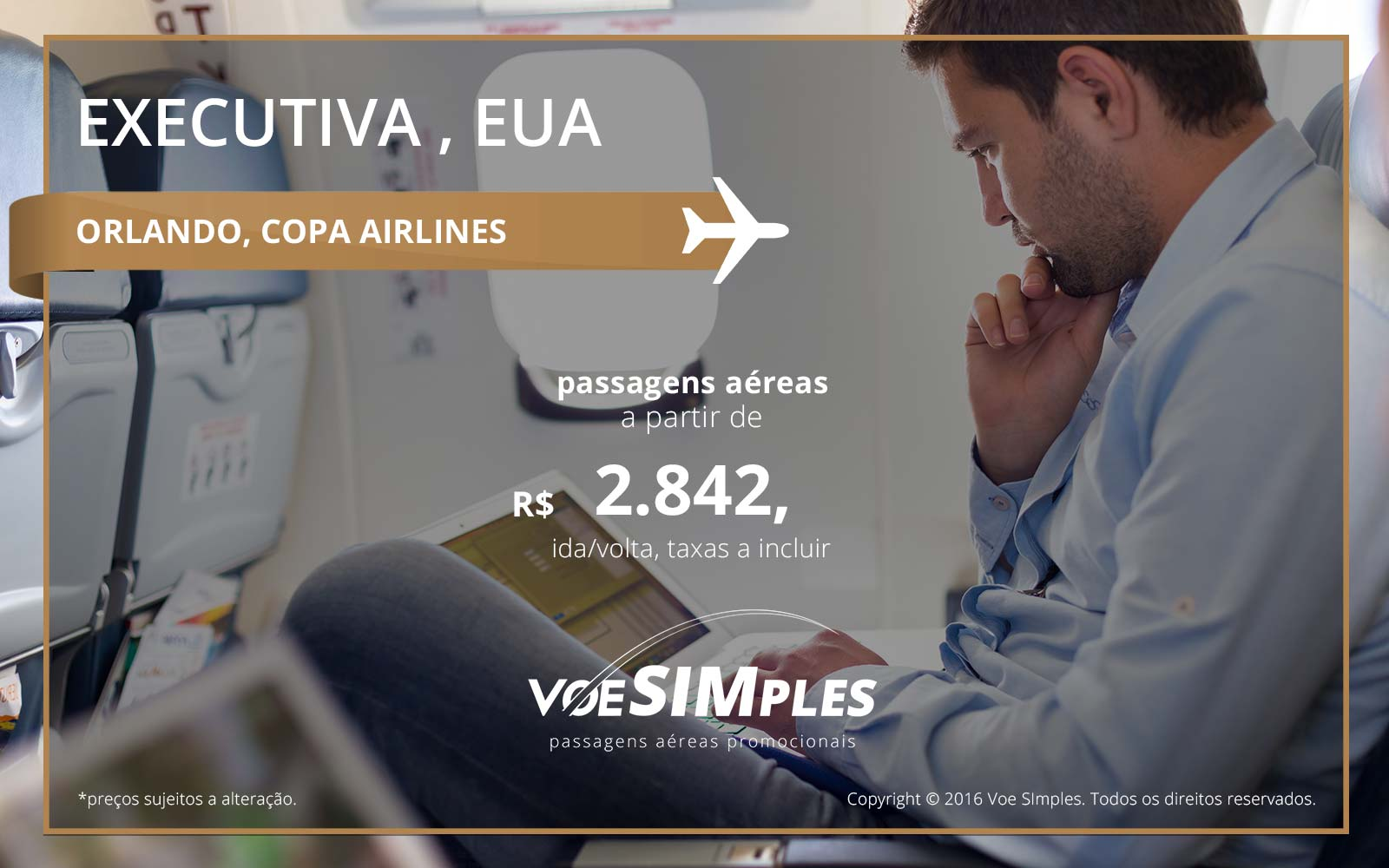 Passagem aérea Classe Executiva Copa Airlines para Orlando
