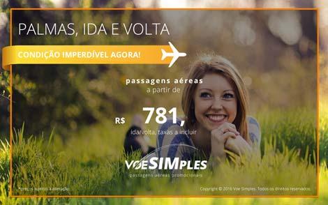 Passagem aérea promocional para Palmas