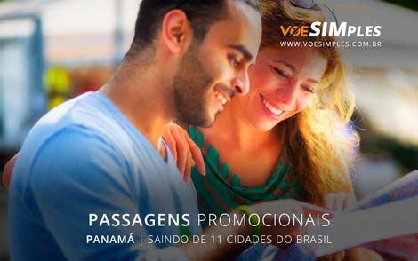 Passagem aérea promocional para o Panamá