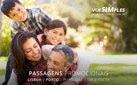 Passagem aérea promocional Lisboa e Porto