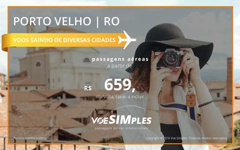 Passagens aéreas promocionais para Porto Velho