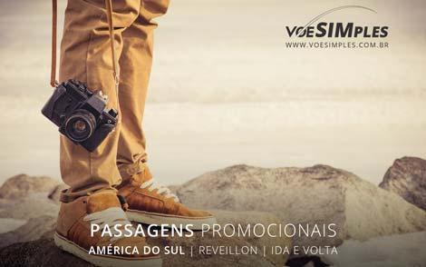 Passagem aérea promocional para o Reveillon na América do Sul