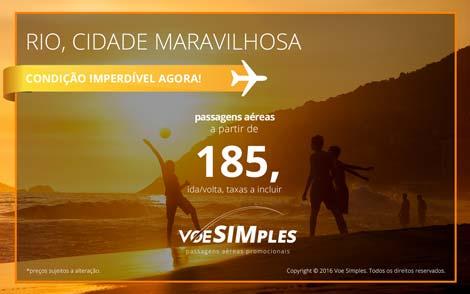 Passagem aérea promocional para o Rio de Janeiro