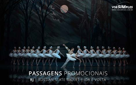 Passagem aérea promocional para o Russian State Ballet