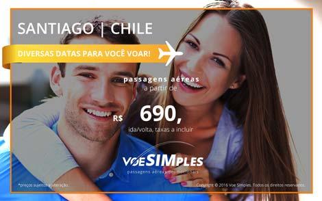 Passagem aérea promocional para Santiago