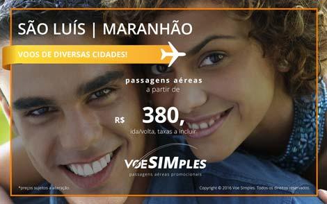Passagem aérea promocional para São Luís