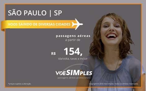 Passagem aérea em promoção relâmpago 2016 para São Paulo