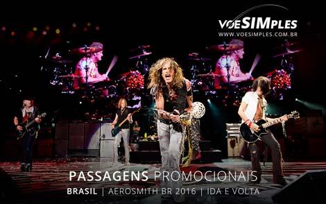 Passagem aérea promocional para o Show do Aerosmith Brasil 2016