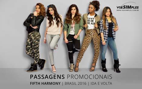 Oferta de passagens aéreas para o Show Fifth Harmony no Brasil 2016