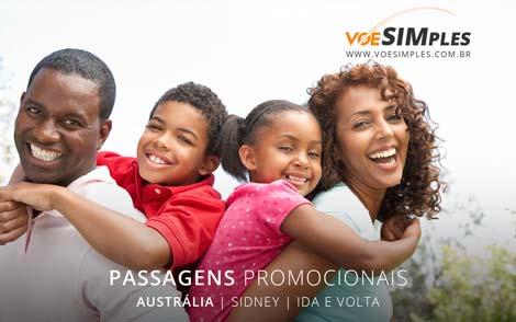 Passagem aérea promocional para Austrália