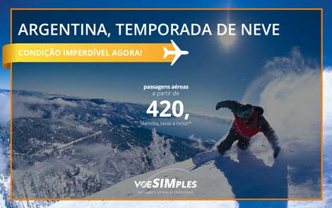 Passagem aérea promocional para Argentina