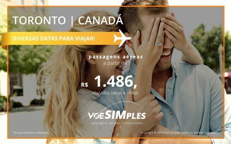Passagem aérea promocional para Toronto