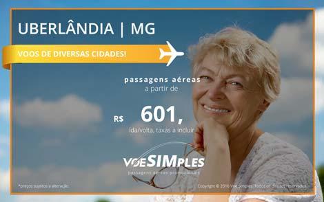 Passagem aérea promocional para Uberlândia