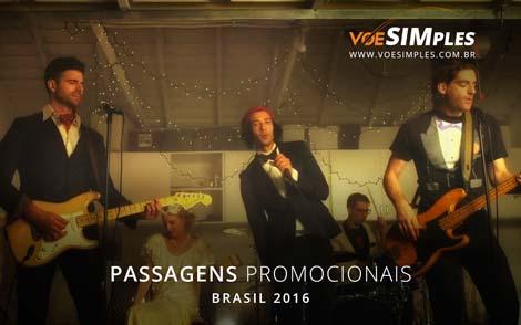 Passagem aérea promocional para o show do Magic! no Brasil em 2016