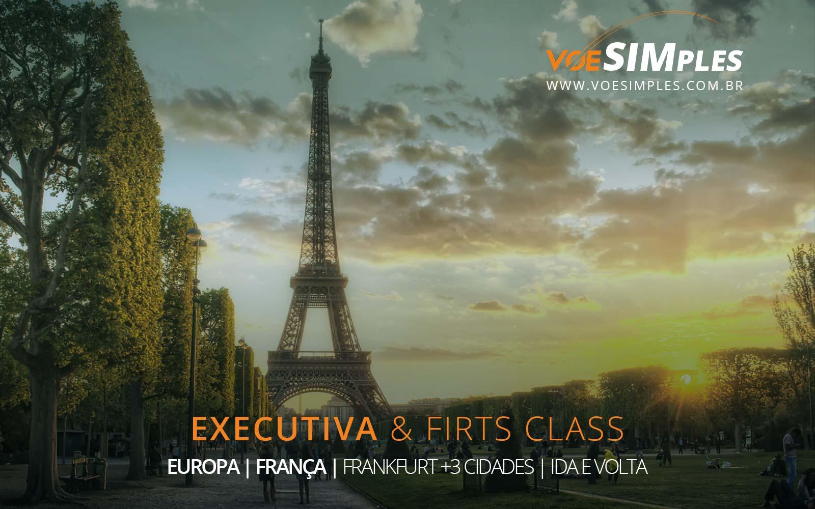 Passagens aéreas na Classe Executiva para Frankfurt, Paris, Londres, Madri e Milão na Europa