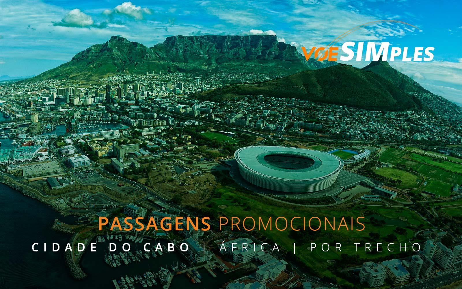 Passagens aéreas promocionais para Cidade do Cabo na África do Sul