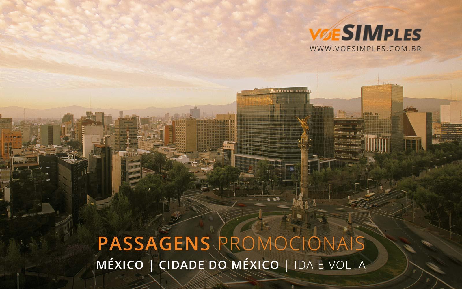 Passagens aéreas promocionais para a Cidade do México