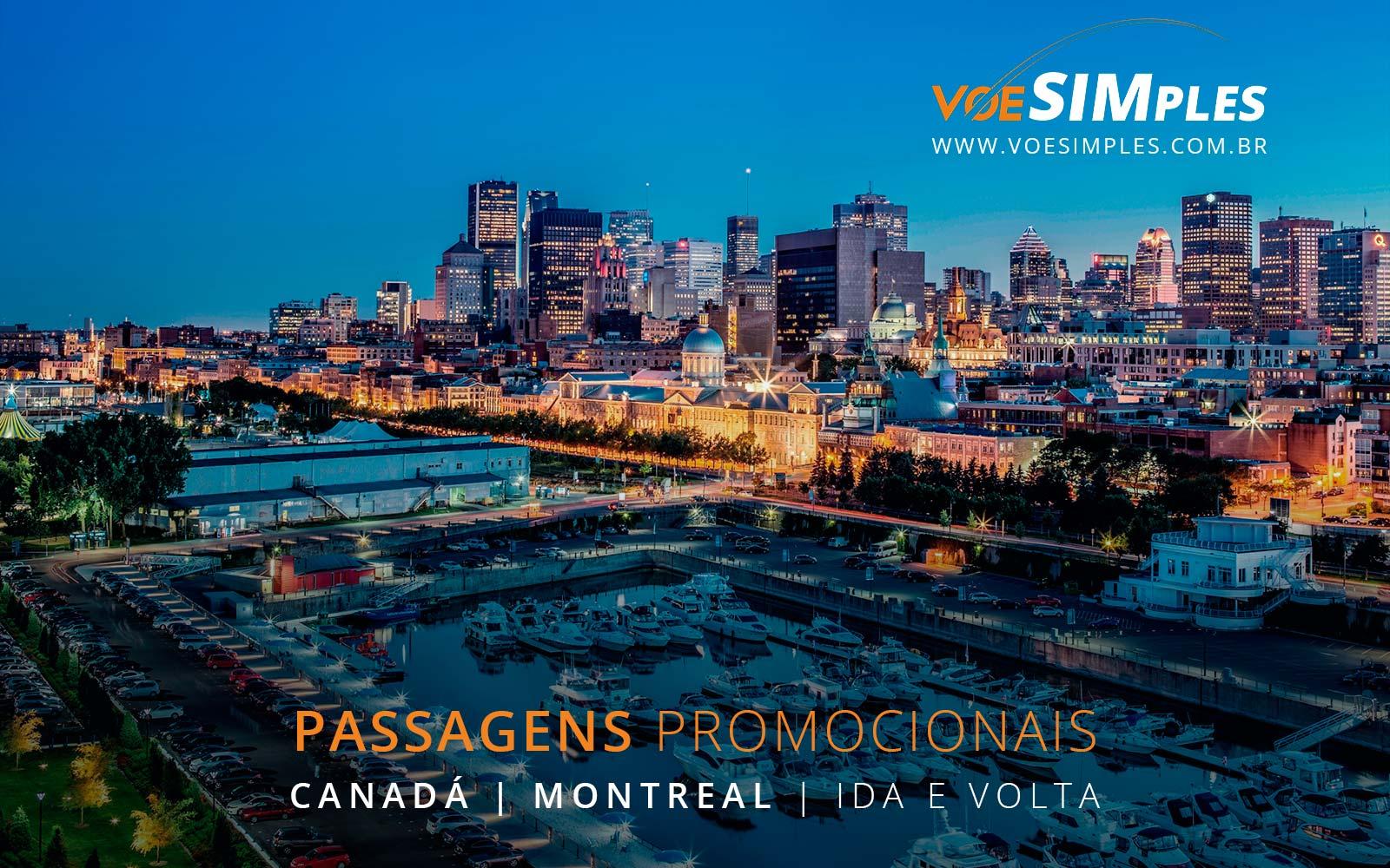 Passagens aéreas baratas para Montreal no Canadá