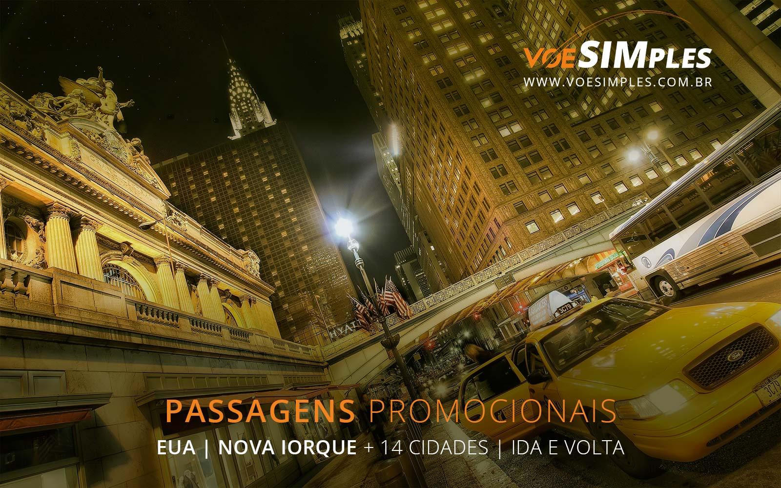 Passagens aéreas promocionais para Nova York, Orlando, Washington e Chicago nos Estados Unidos