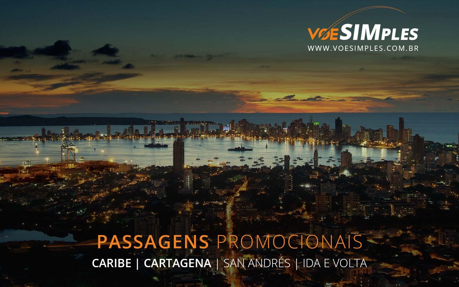 Passagens aéreas promocionais para Cartagena e San Andres no Caribe Colombiano