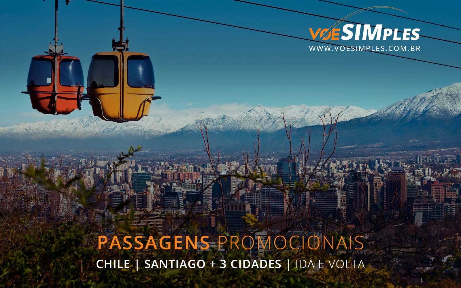 Passagens aéreas promocionais para Santiago, Lima, Bogotá e Montevidéu na América do Sul.