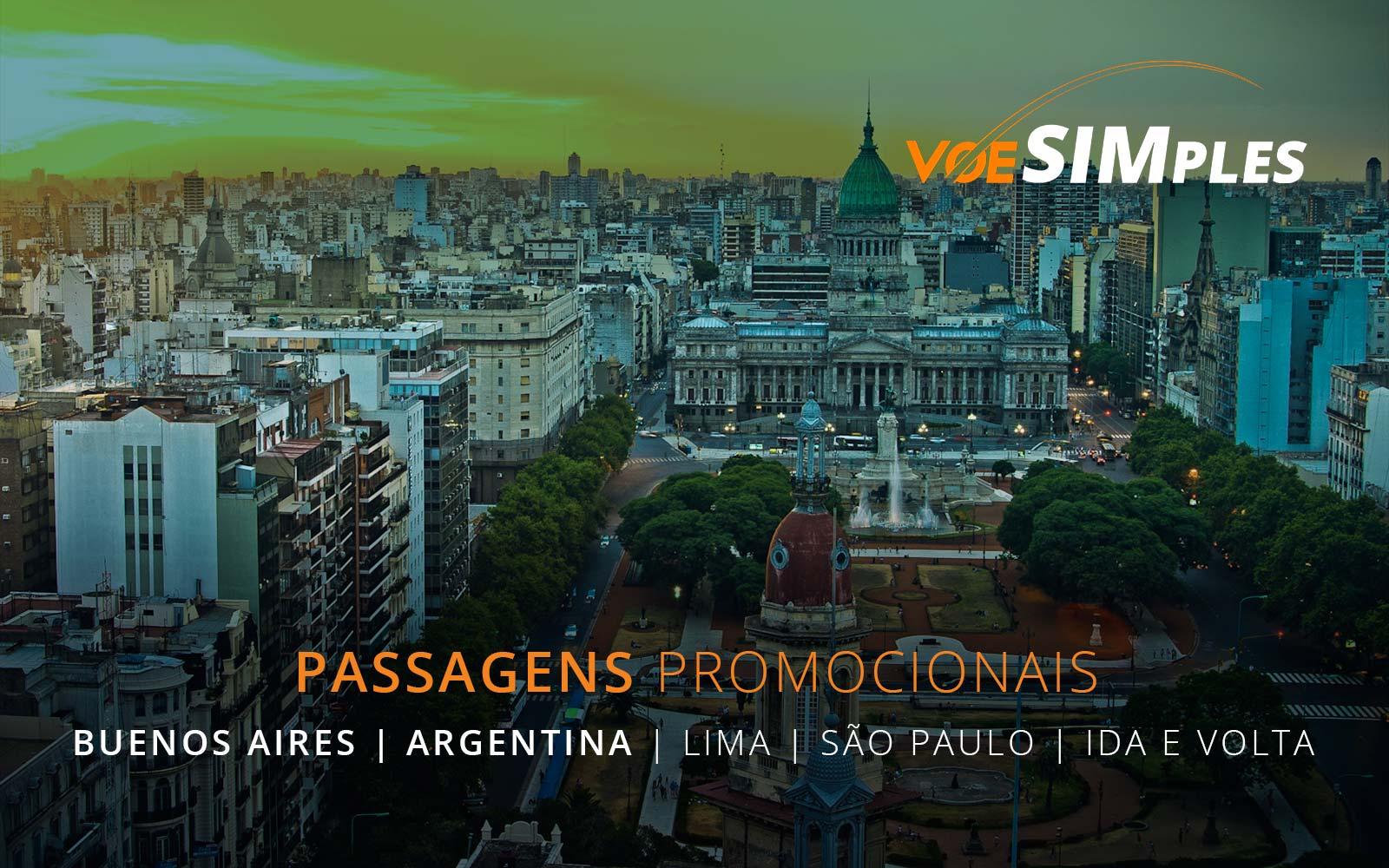 Passagens aéreas promocionais SKY Airline para Lima, Buenos Aires e São Paulo
