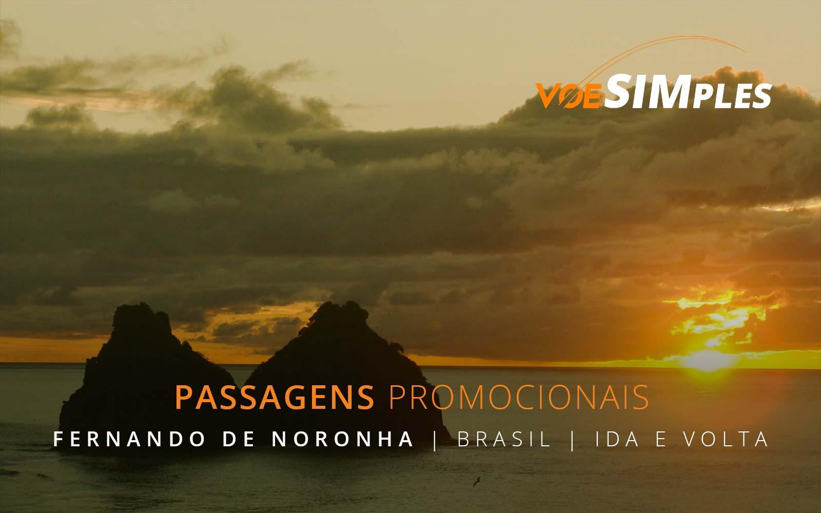 Passagens aéreas promocionais para Fernando de Noronha