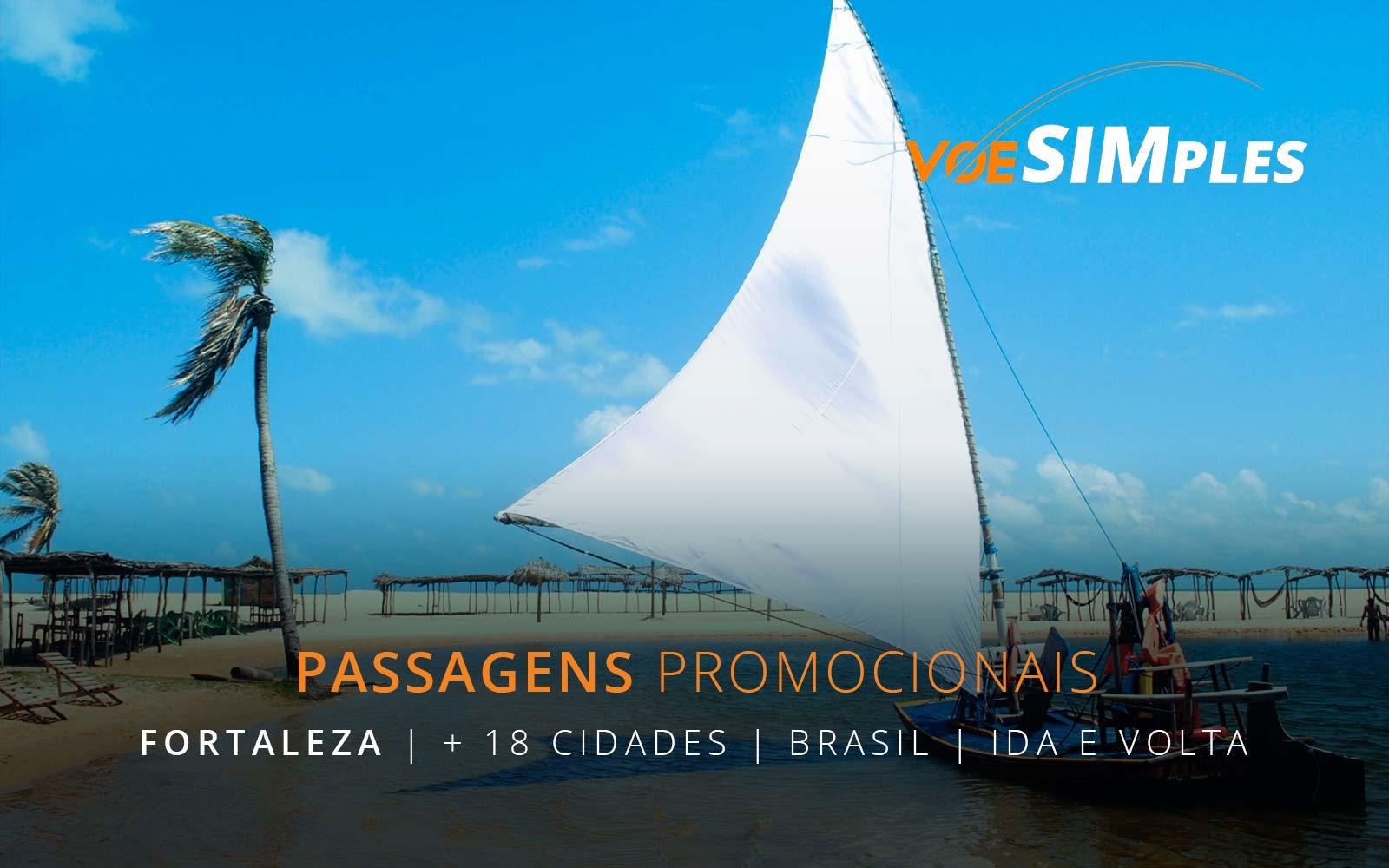 Passagens aéreas promocionais para o Nordeste