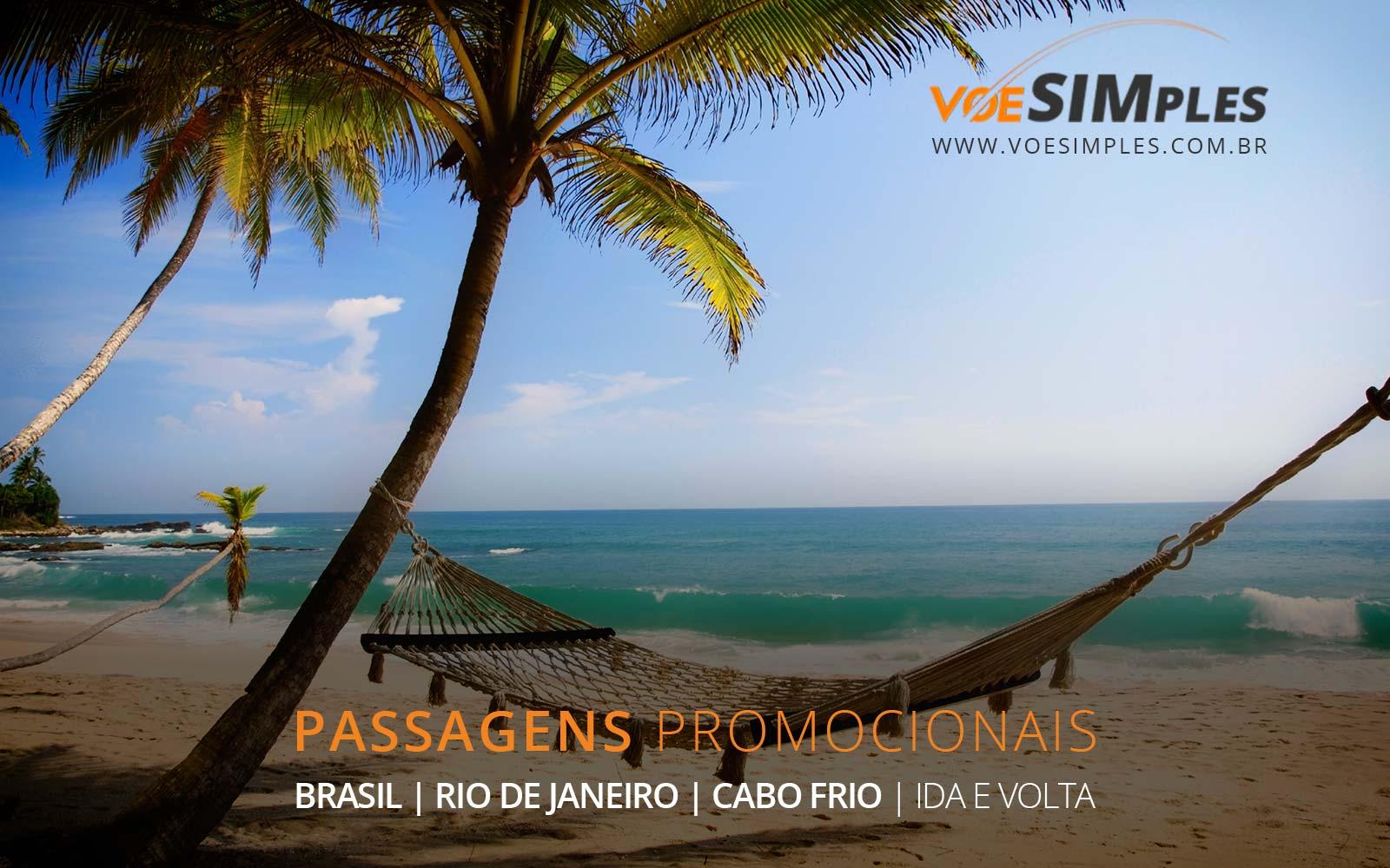 Passagens aéreas baratas para Cabo Frio no Rio de Janeiro