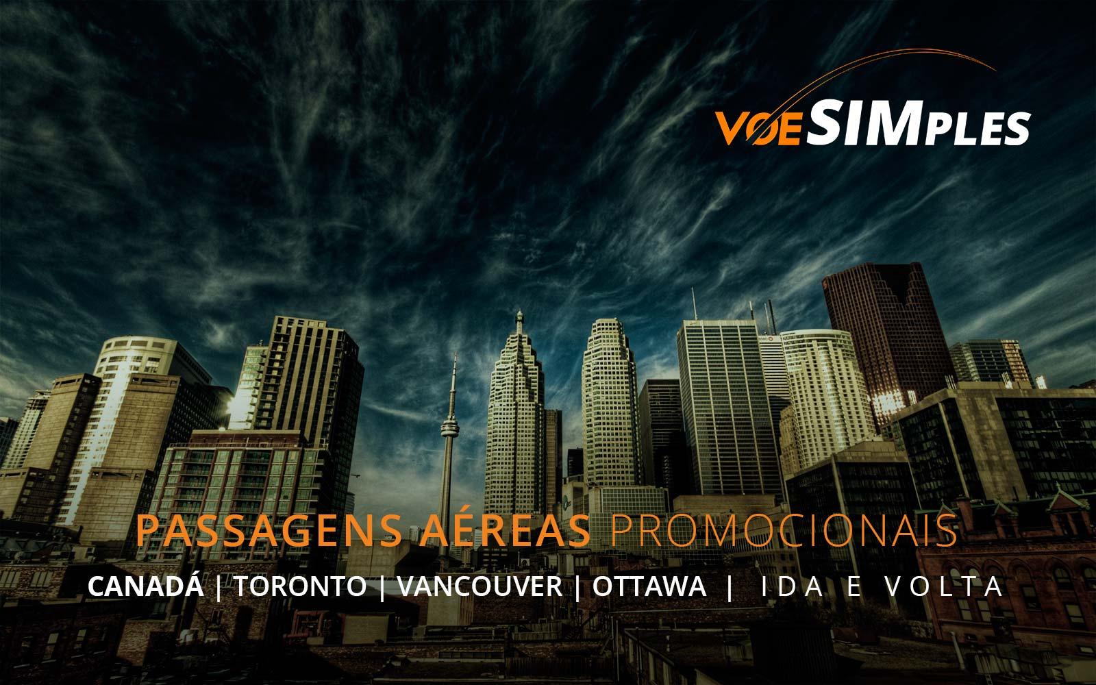 Passagens aéreas promocionais para Montreal, Toronto, Vancouver e Ottawa no Canadá